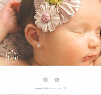 FLOWER WHITE GOLD - NEWBORN (0,35 gram)